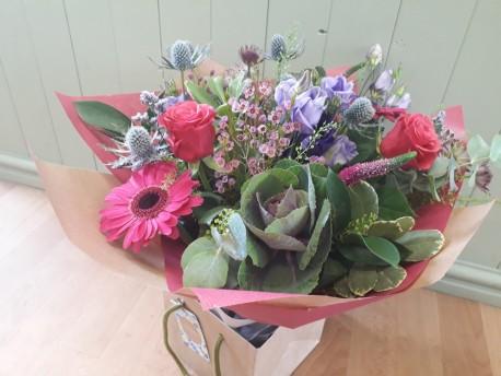 Autumn Damson Hand-Tied Bouquet