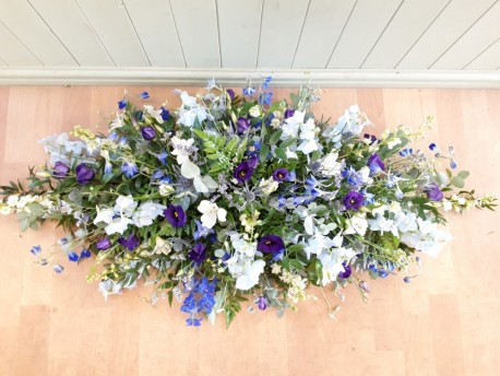 Blue Wildflower Casket Spray