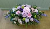 Pastel Country Garden Funeral Spray