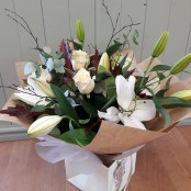 Classic Rose & Lily Hand-Tied Bouquet