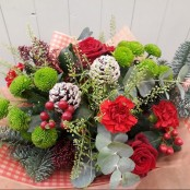 Seasons Greetings Hand-tied Bouquet
